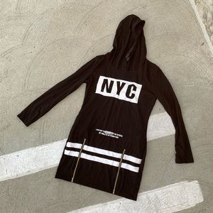 Sweaters - NYC LONG BLACK SWEATER SIZE SMALL
